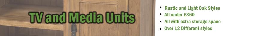 Oak TV Units and Media Storage