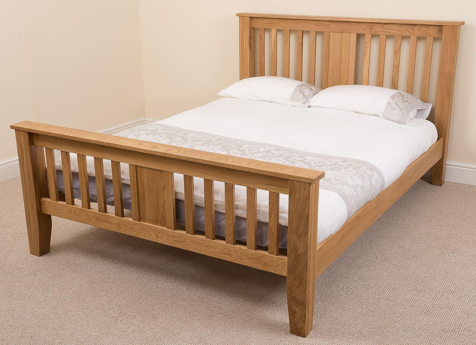 Boston Solid Oak 4FT 6 Double Bed