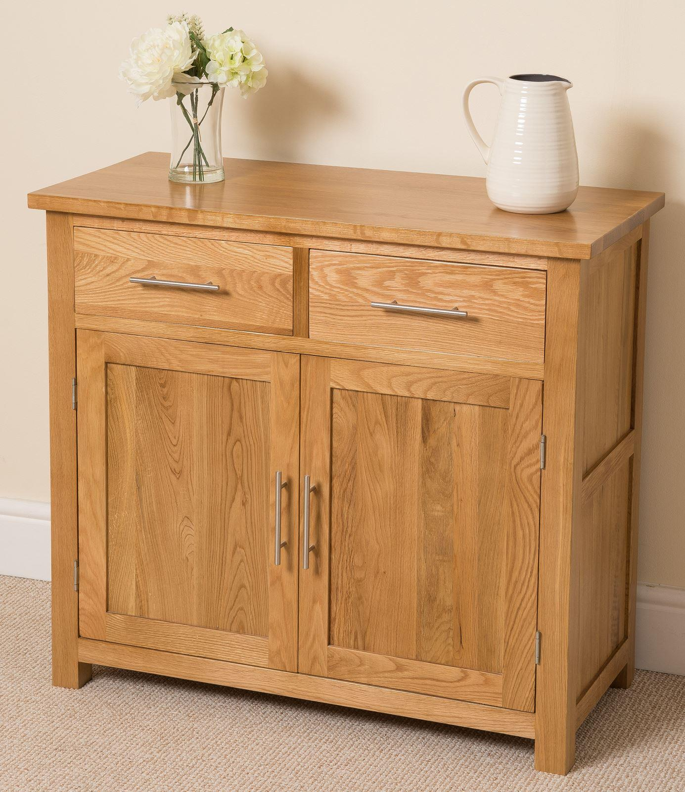 Oslo solid oak small sideboard