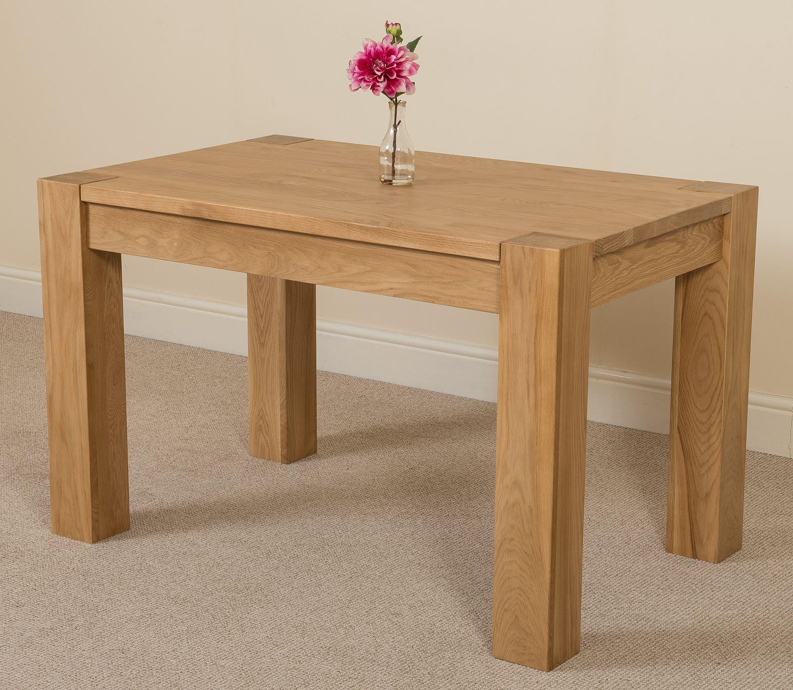 Kuba Solid Oak 125 cm Dining Table