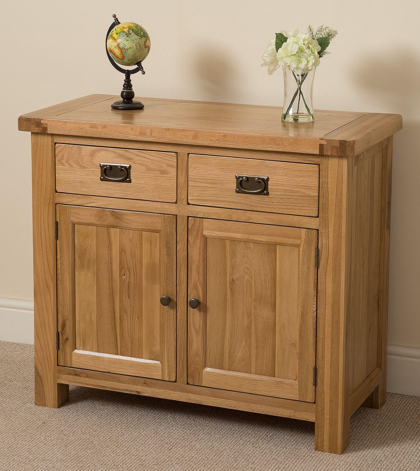 Cottage Light Solid Oak Small Sideboard