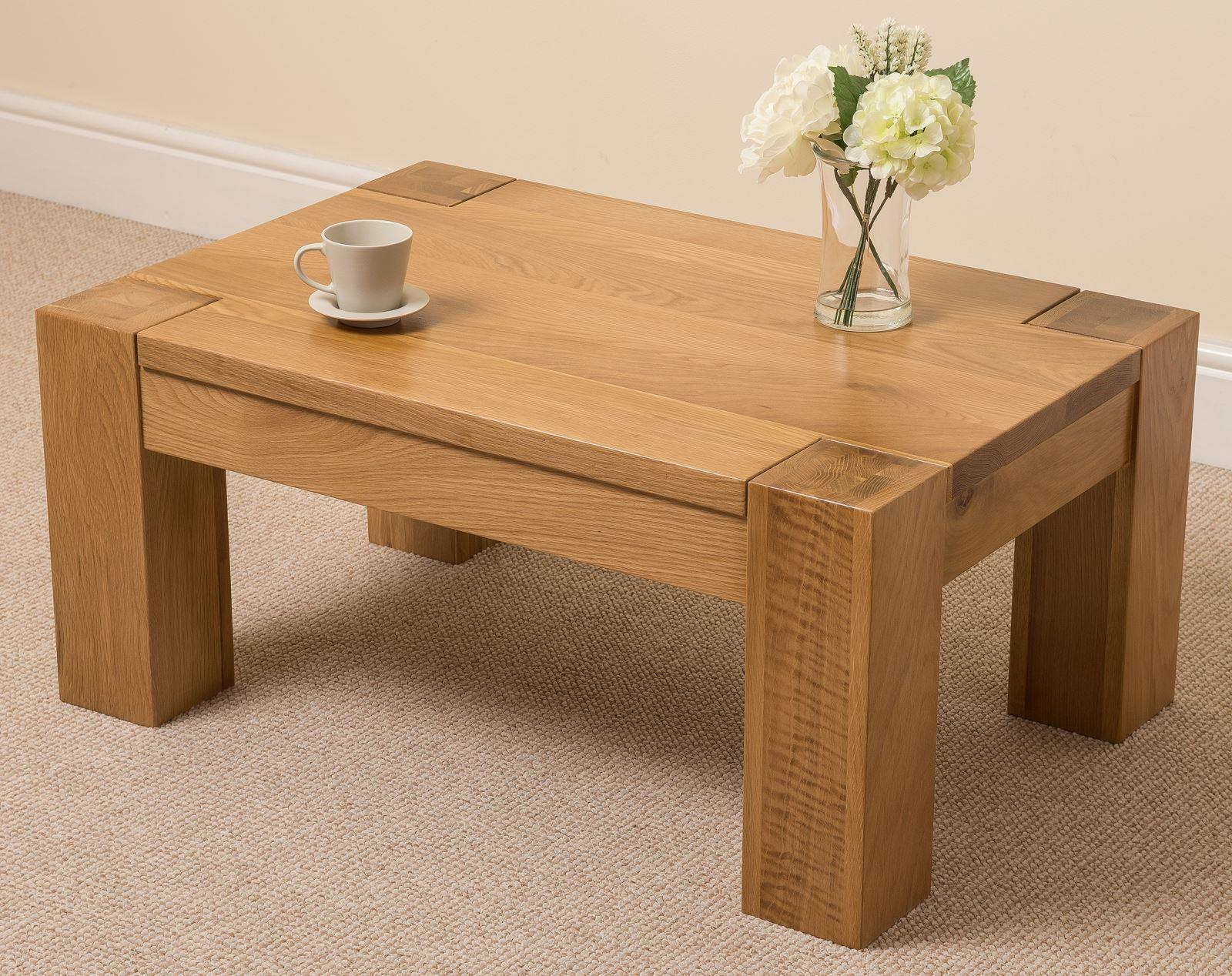 Kuba Solid Oak Coffee Table Furniture King