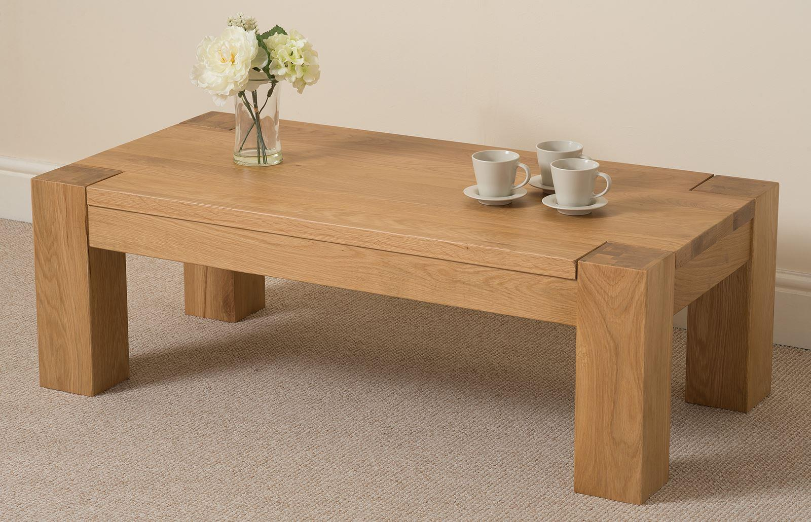 Kuba Solid Oak Large Coffee Table