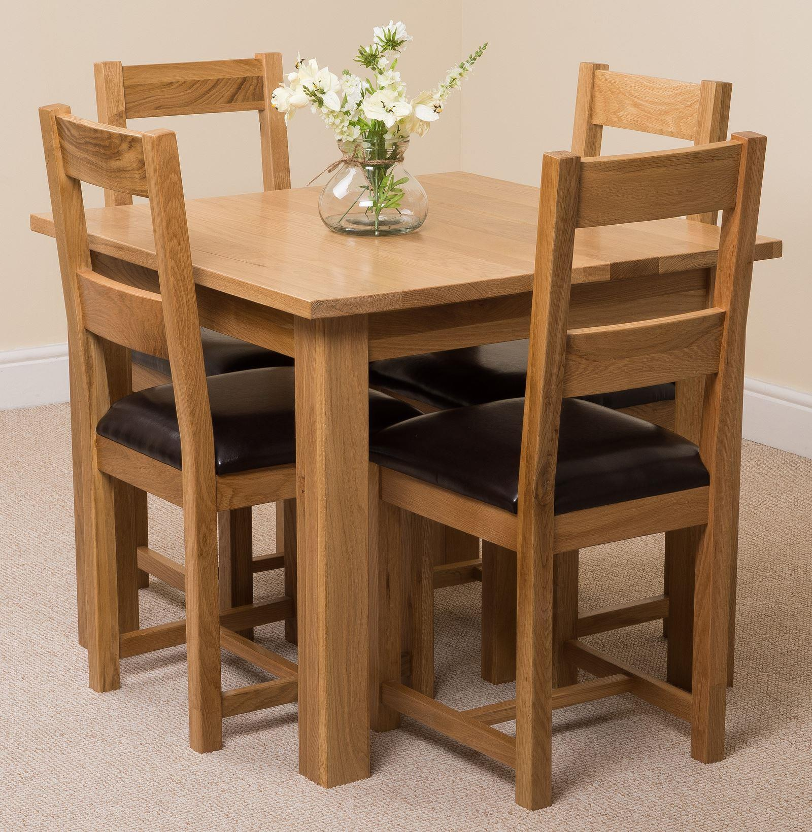 Oslo Solid Oak Dining Table & 4 Lincoln Chairs
