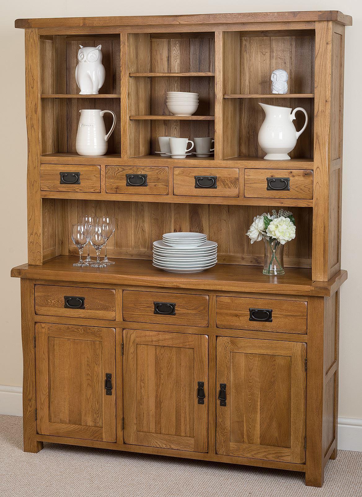 Cotswold Rustic Solid Oak Large Welsh Dresser