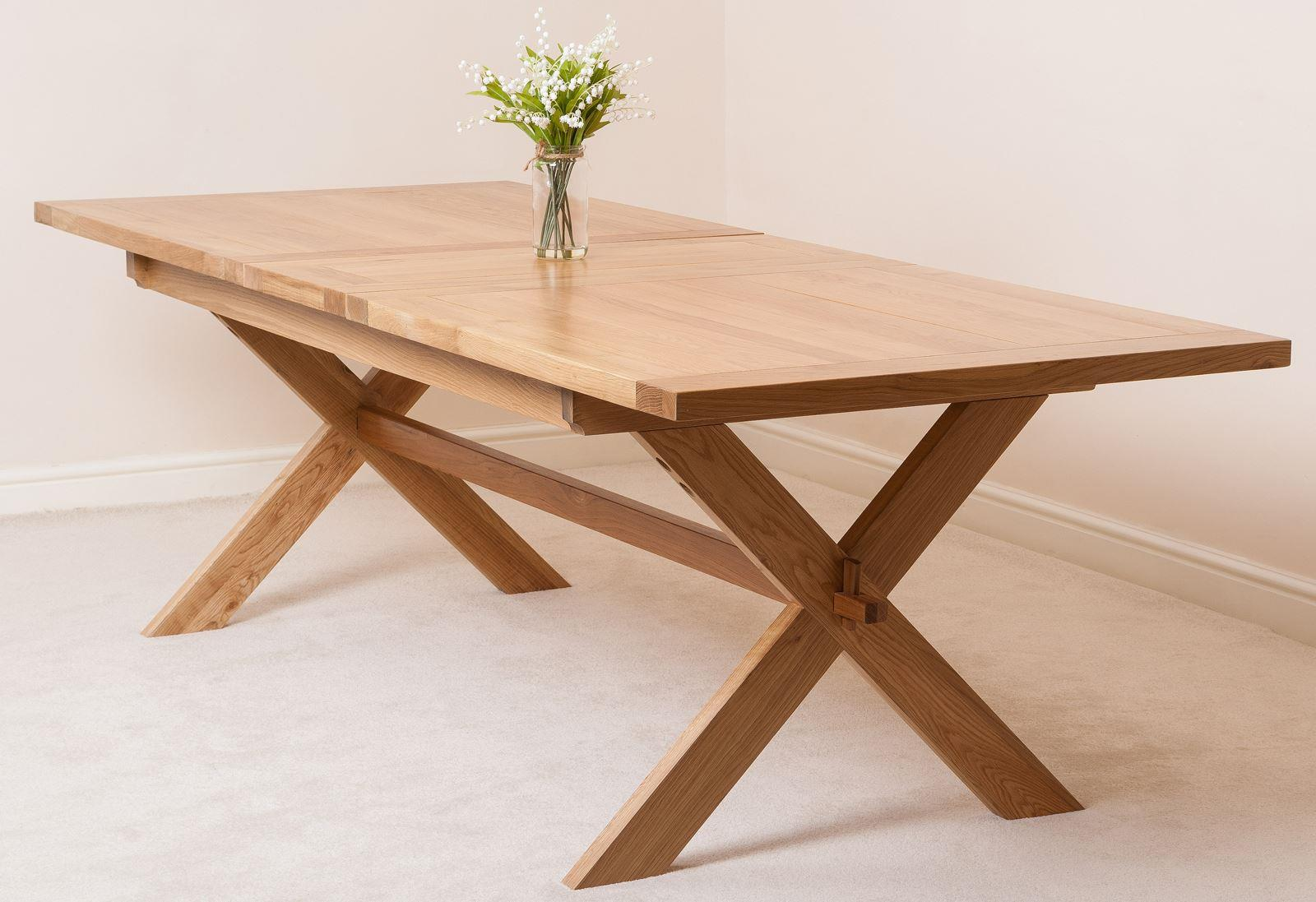 Vermont Solid Oak Extending Dining Table