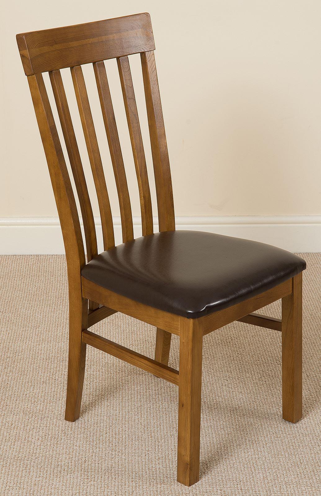Harvard Solid Oak Rustic Wood amp Brown Leather Dining Chair  : F21550420F464C81B2879CD781818386 from oakfurnitureking.co.uk size 1035 x 1600 jpeg 317kB