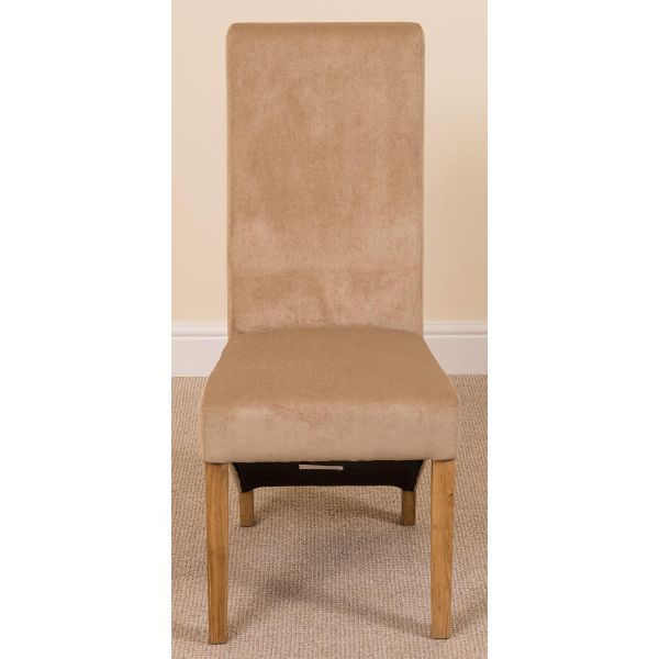 Beige Fabric Lola Dining chairs - Front