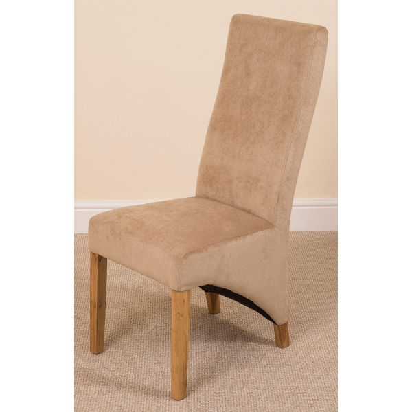 Lola Beige Fabric Dining Chair - Right