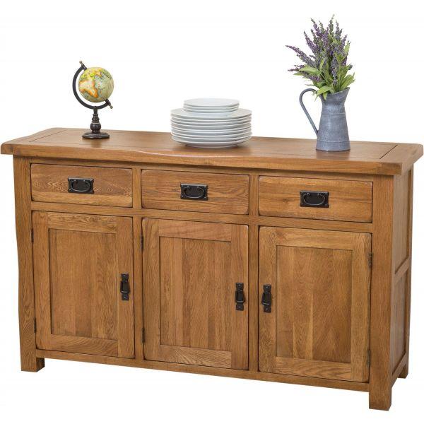 Cotswold Rustic Oak Large Sideboard