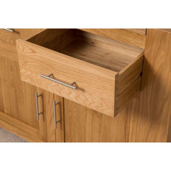 Kuba Solid Oak Small Sideboard - Drawer