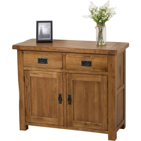 cotswold rustic small Oak sideboard thumbnail
