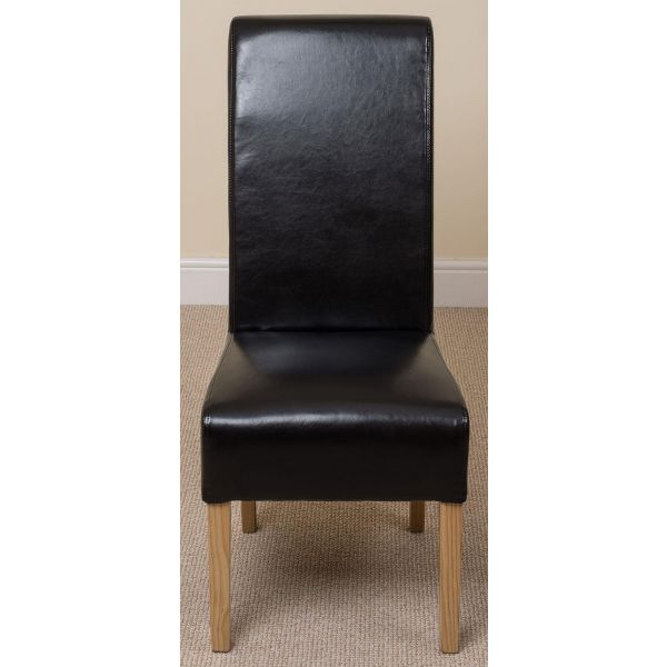 Montana Leather Dining Chair [Black]