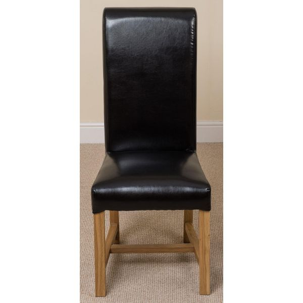 Washington black dining chair front face