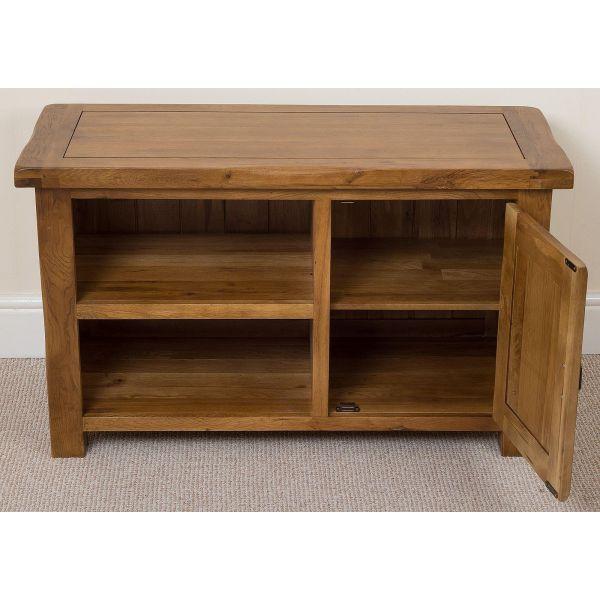 Cotswold Oak TV Cabinet - Drawers Open