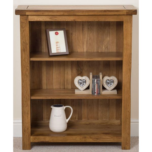 Cotswold Small Oak Bookcase - Front