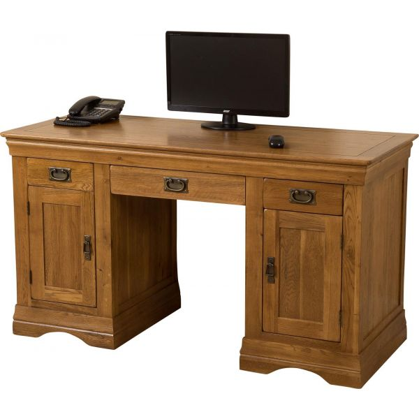 French Chateau Solid Oak Computer Desk