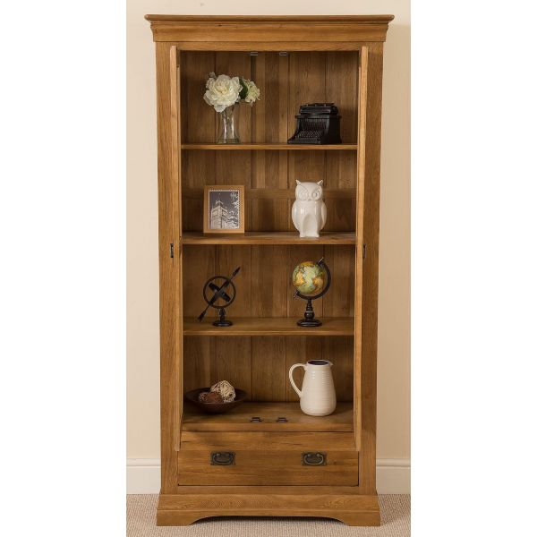 French Chateau Solid Oak Display Cabinet - Front