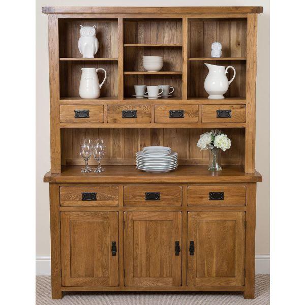 Cotswold Rustic Solid Oak Large Dresser