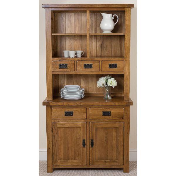 Solid Oak Small Welsh  Dresser - Top