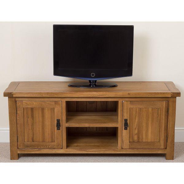 Cotswold Oak Widescreen TV Cabinet Front