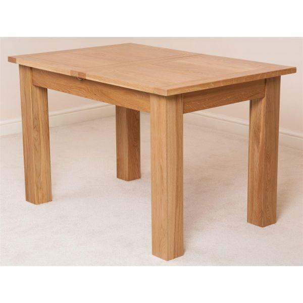Hampton Solid Oak 120-160cm Extending Dining Table