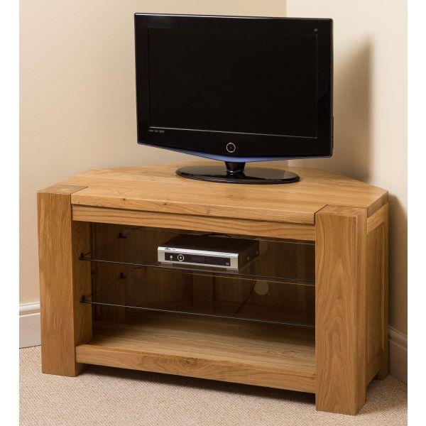 Kuba Solid Oak Corner TV Cabinet - Right sIde