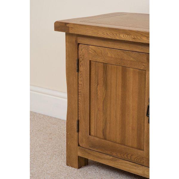 Cotswold Oak Widescreen TV Cabinet - Left Side