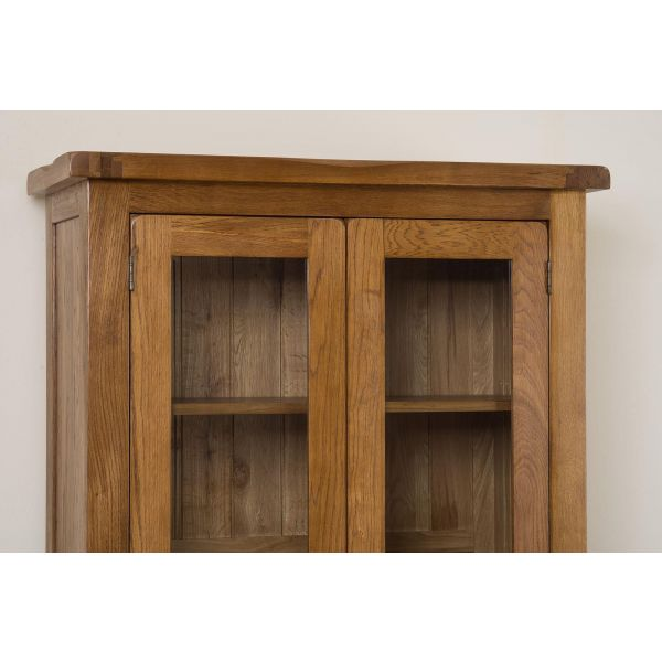 Cotswold Rustic Oak Display Cabinet Top