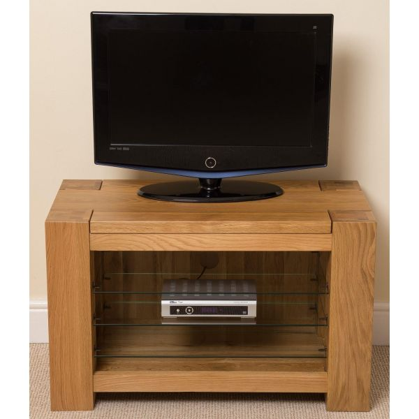 Kuba Solid Oak TV Unit Cabinet - Front