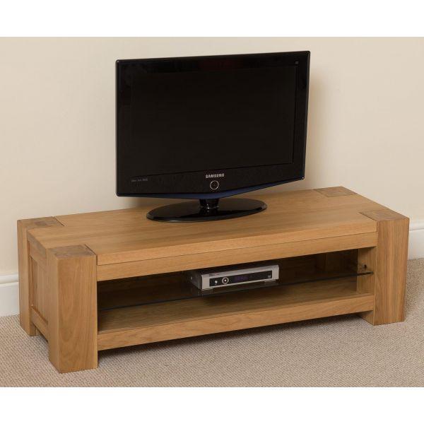 Kuba Solid Oak Widescreen TV Unit [Small]