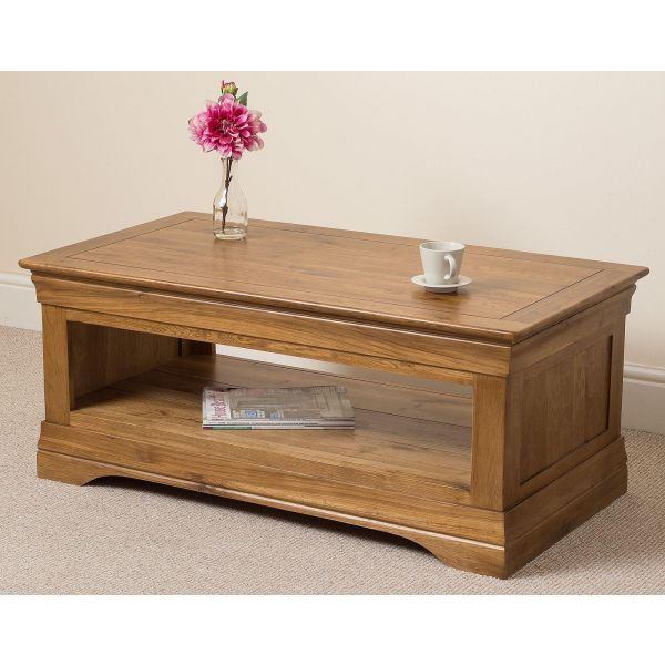 French Chateau Rustic Solid Oak Coffee Table