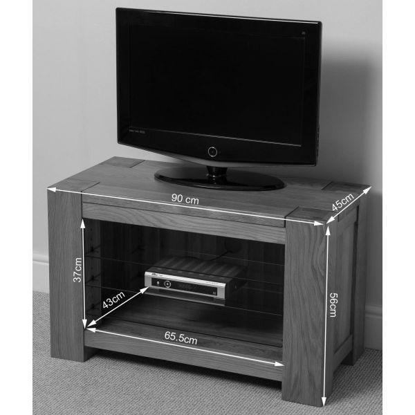 Kuba Solid Oak TV Unit Cabinet - Dimensions