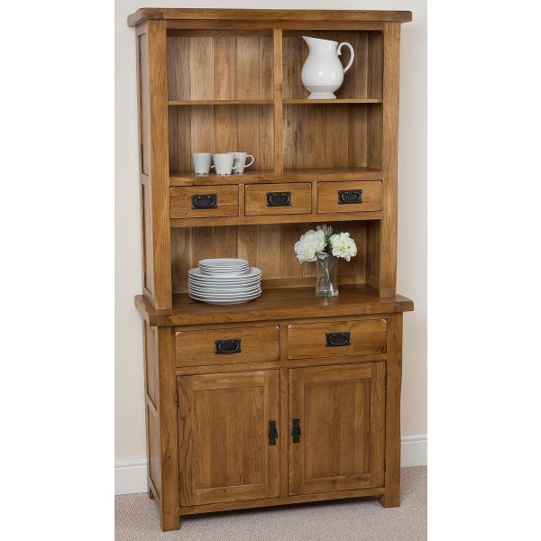 Solid Oak Small Welsh Dresser - Left