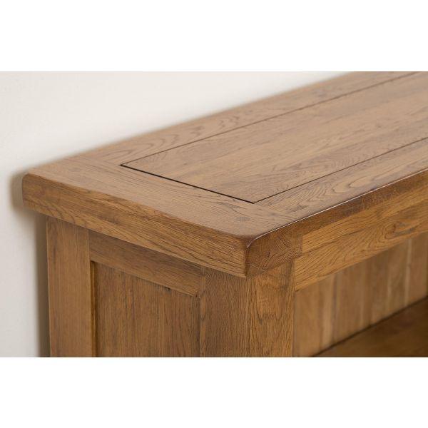 Cotswold Small Oak Bookcase - Corner of Table