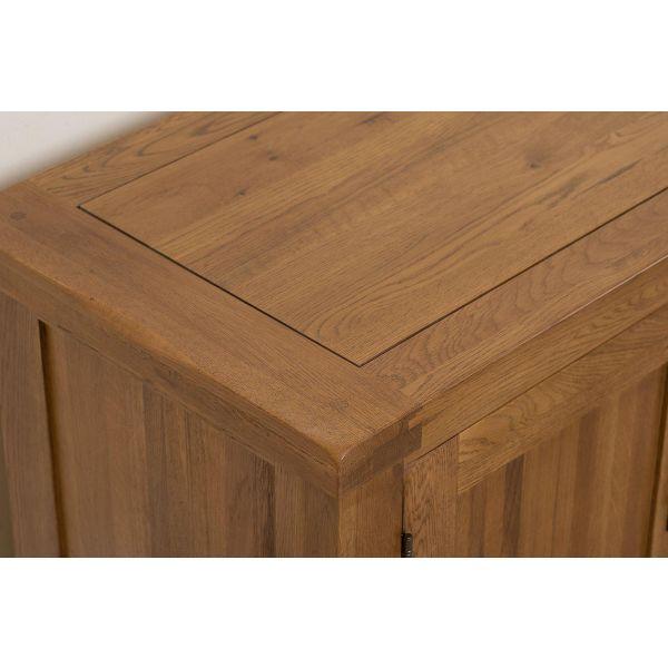 Cotswold Oak Widescreen TV Cabinet - Corner