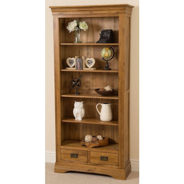 French Chateau Solid Oak Large Bookcase