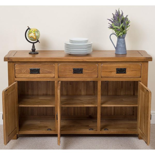 Cotswold Large Sideboard - Drawers Open