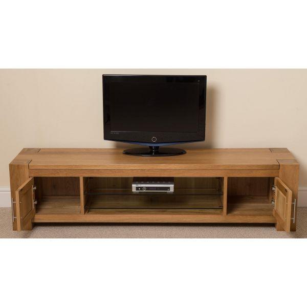Kuba Solid Oak Widescreen TV Unit