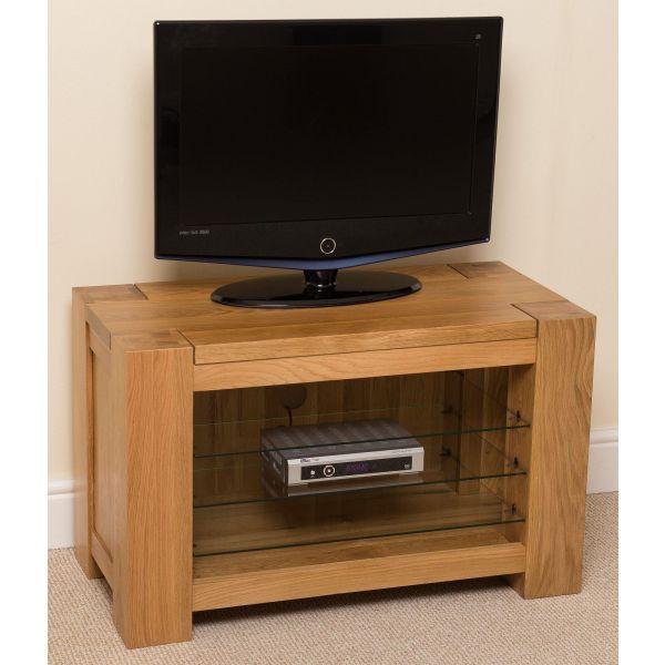 Kuba Solid Oak TV Unit Cabinet - Left