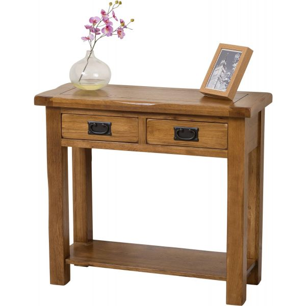 Cotswold Oak Console Table - Blank Background