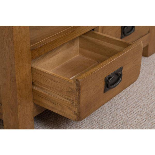 Cotswold Oak Large Oak Bookcase - Drawers