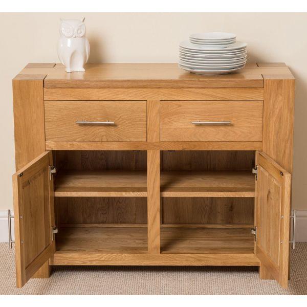 Kuba Solid Oak Small Sideboard - Front Drawers