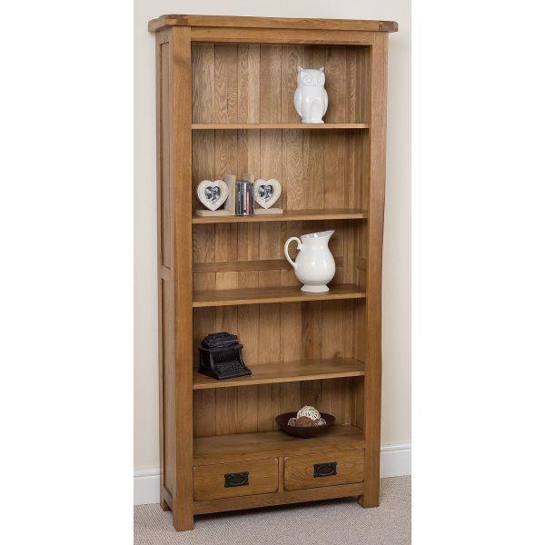 Cotswold Oak Large Oak Bookcase - right