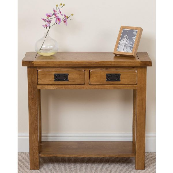 Cotswold Oak Console Table - Face On