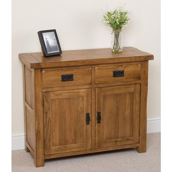 cotswold rustic small oak sideboard right angle
