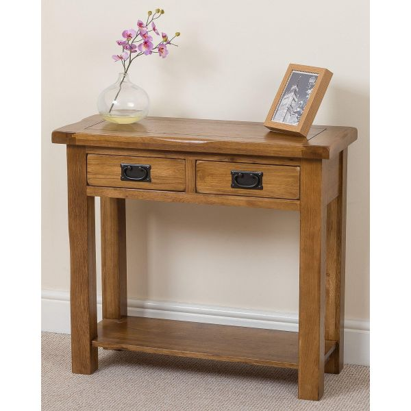 Cotswold Oak Console Table - Full Picture