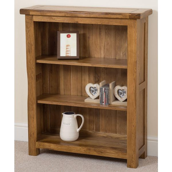 Cotswold Small Oak Bookcase - Right Side
