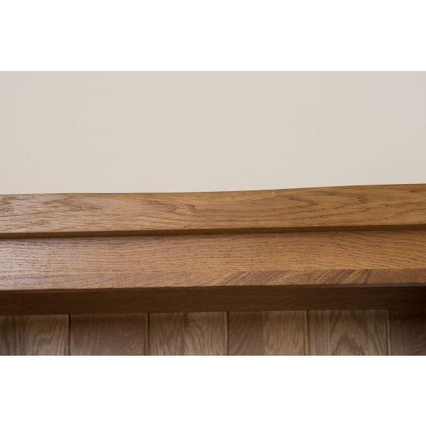 Cotswold Oak Large Oak Bookcase - top