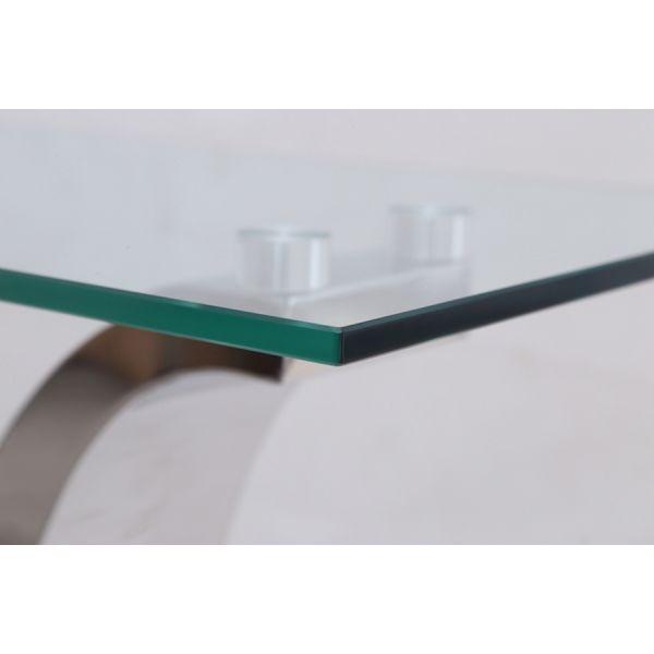 Alexandria Glass Top and Chrome Coffee Table